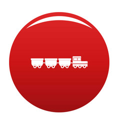 Freight wagons icon red vector