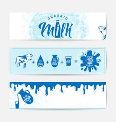 Fresh milky banner design vector