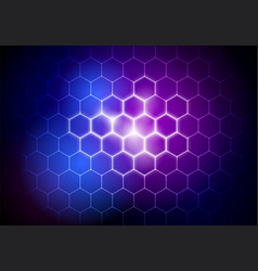 Futuristic big data technology hexagon background vector