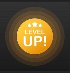 Game icon bonus level up icon new level logo vector