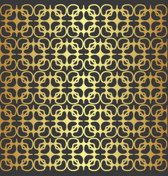 golden geometric seamless pattern vector image