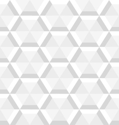 Gray hexagon seamless vector