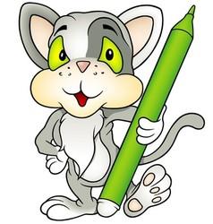 Gray Kitten vector image