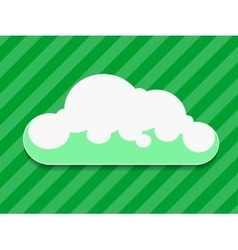 Green cloud with shadow vector