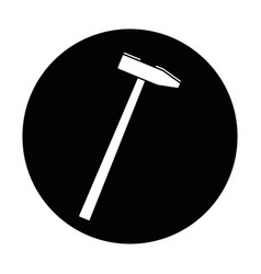 hammer construction build object icon vector image