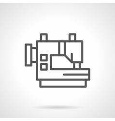 Industrial sewing machines black line icon vector