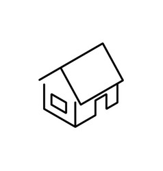 isometric home icon line style vector image