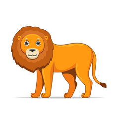 Lion animal standing on a white background vector