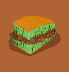 Martabak manis indonesian cake vector