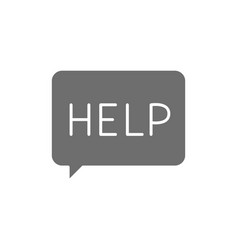 Message asking for help faq grey icon vector