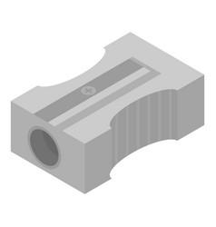 Metal sharpener icon isometric style vector