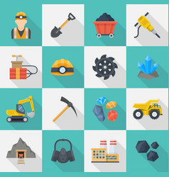 minig industry icon cartoon set vector image