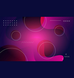 Modern gradient shapes composition background vector