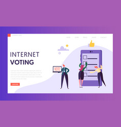 Online evoting registration technology app web vector