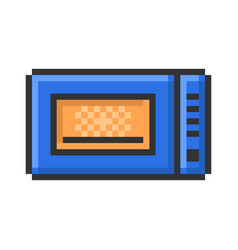 outlined pixel icon microwave fully editable vector image