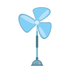 pedestal fan electronic domestic appliance vector image
