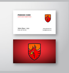 Phoenix emblem abstract logo and business vector