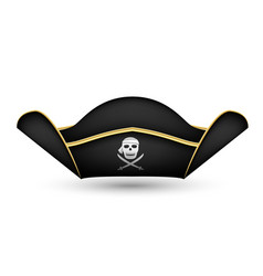 Pirate captains hat on a white background vector