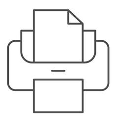 Printer thin line icon print vector