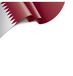qatar flag on a white vector image