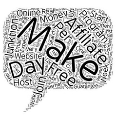Quickest Way To Make Money Online Guaranteed text vector image