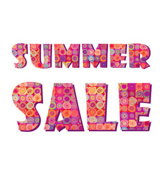 Sale banner big summer sale sign white background vector