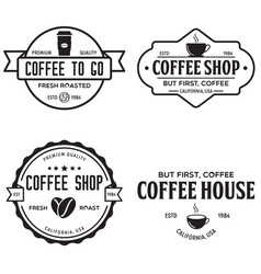 Set of coffee shop logotype templates coffee vector