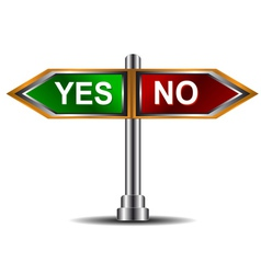 Sign yes and no vector image