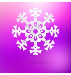 Snowflake origami on purple pink EPS8 vector image