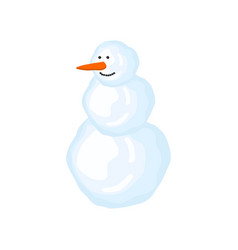 snowman isolated christmas new year vector image