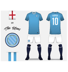 soccer jersey or football kit template vector image