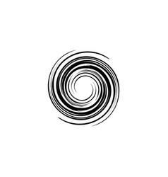 spiral tornado logo icon vector image