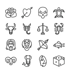 Tattoo designs icons vector