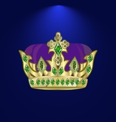 Tiara with precious stones 7 vector