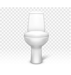 toilet with seat white ceramic lavatory bowl vector image
