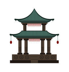 traditional chinese building cultural oriental vector image