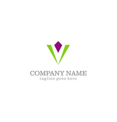 triangle jewelry company logo vector image