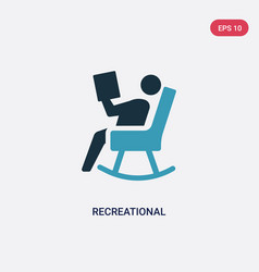 Two color recreational icon from social concept vector