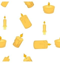 Types of candles pattern cartoon style vector