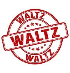 Waltz red grunge round vintage rubber stamp vector