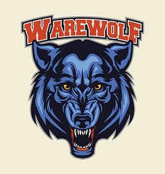 warewolf head mascot vector image