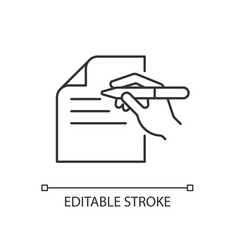 Written communication linear icon vector
