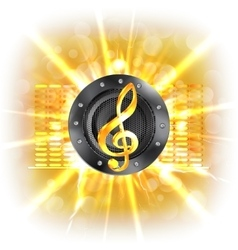 background music in flash treble clef speaker vector image