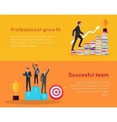 Professional Growth and Successful Team Banners vector image