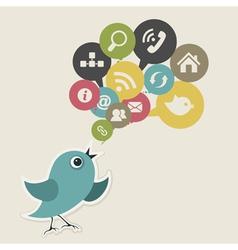 Social bird vector image vector image