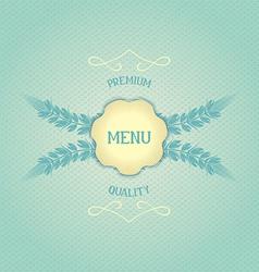 Design menu for restaurant vector image
