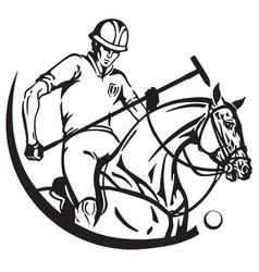 equestrian sport polo club vector image vector image