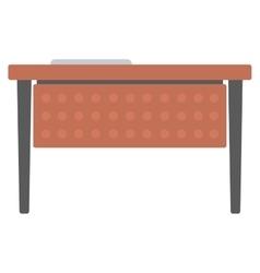 Wooden writing desk vector image vector image
