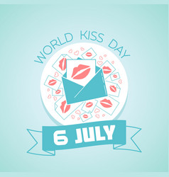 6 july international kissing day vector image vector image