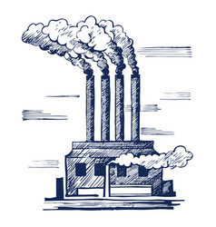 air ecology and the problem vector image